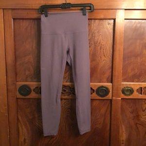 """Lululemon gray/mauve align 25"""" legging sz 6"""